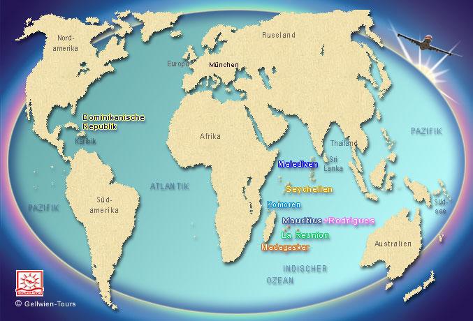 Seychellen Karte Afrika.Gellwien Tours Reiseziele Seychellen Mauritius La Réunion